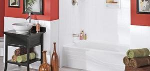bathtub and bathroom recently remodeled